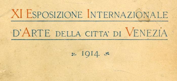 Catalogue de la Biennale de Venise (Italie), 1914