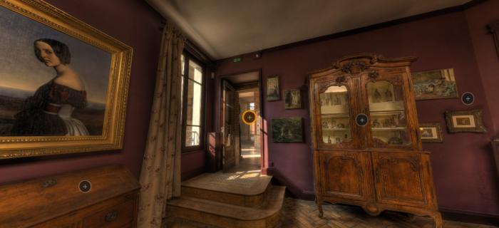 Visuel de la visite virtuelle du dispositif en faveur du public à mobilité réduite au musée Bourdelle