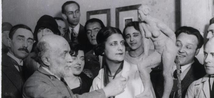 Service Général de la Presse, Bourdelle et ses élèves à la Grande Chaumière, 1928