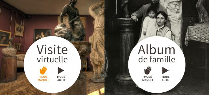Visuel d'accueil du dispositif en faveur du public à mobilité réduite au musée Bourdelle