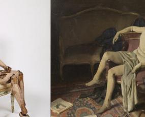 Mannequin de Bergame, vers 1810,Alan Beeton, Reposing II, huile sur toileI
