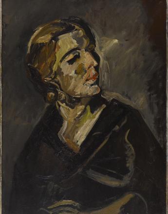 """Marcel Poncet, """"Portrait d'Annie"""", 1924, huile sur toile - musée Bourdelle, Paris - photo musée Bourdelle / Paris musées"""