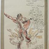Cahier Monet - Page de couverture. MBD5288. Source : Archives Musée Bourdelle